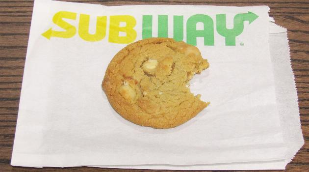 Subway white chocolate macadamia nut cookie