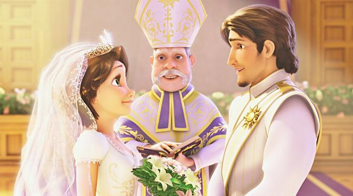 Tangled: Rapunzel and Flynn Rider's wedding