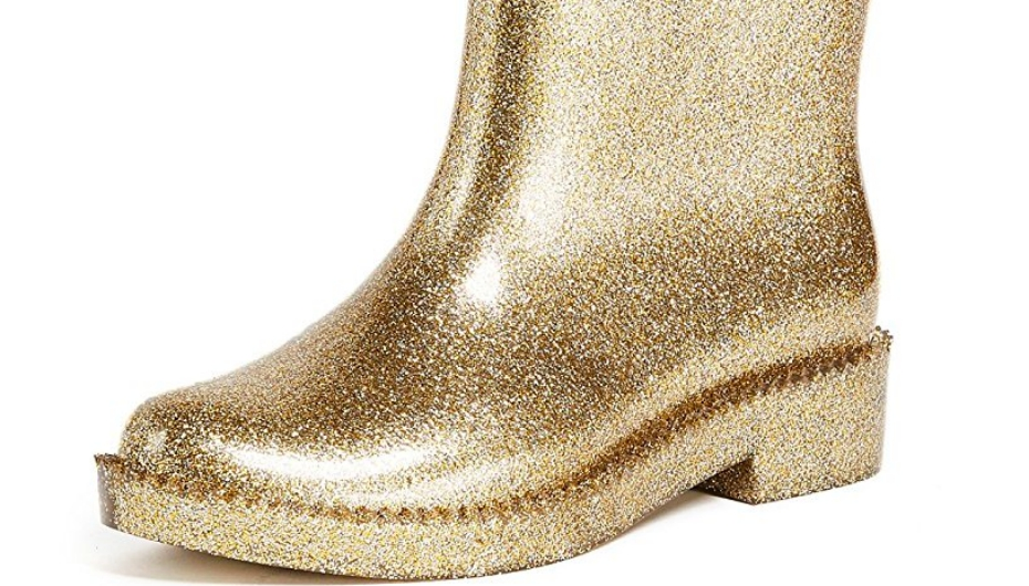 glitter rain boot