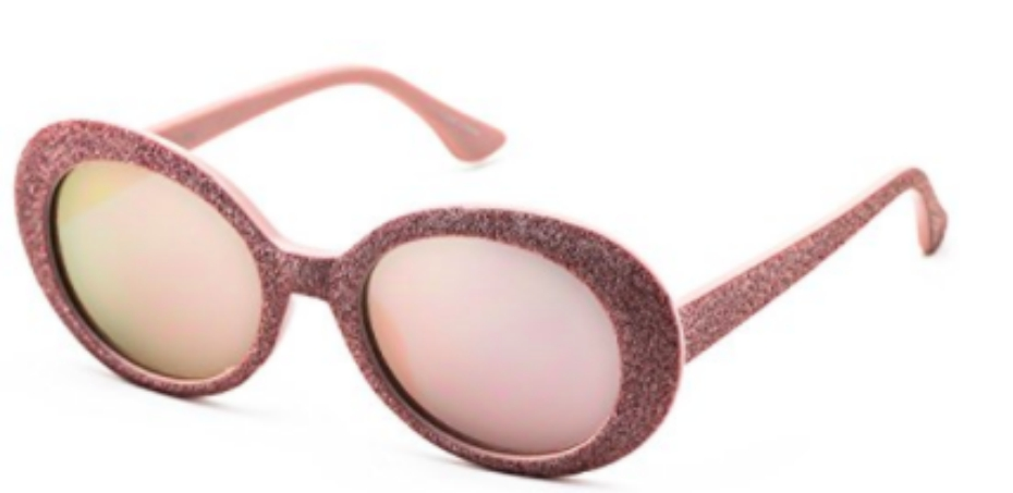 pink glitter sunglasses