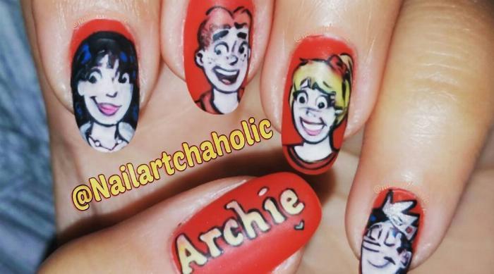 Archie comics nail art