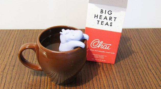 Big Heart Tea Co: Hippo Diffuser and Tea Cup