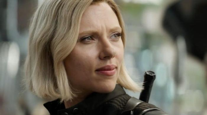 Black Widow with Blonde hair in trailer for Avengers: Infinity War