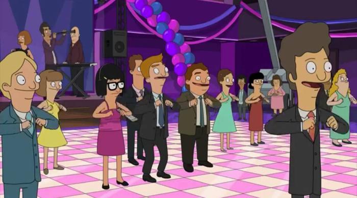 Bob's Burgers: Tina and Jimmy Junior together at school dance