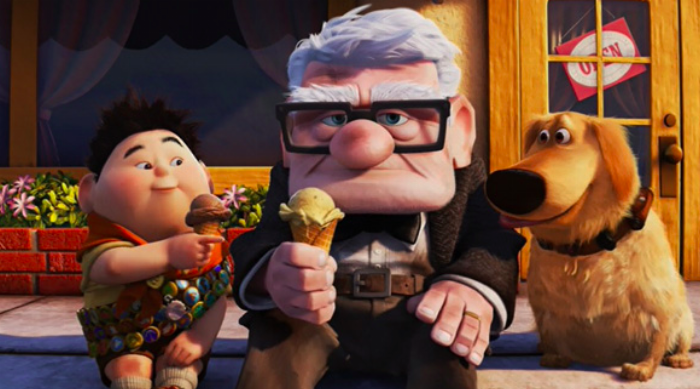 Carl and Russell Eating Ice Cream - Up