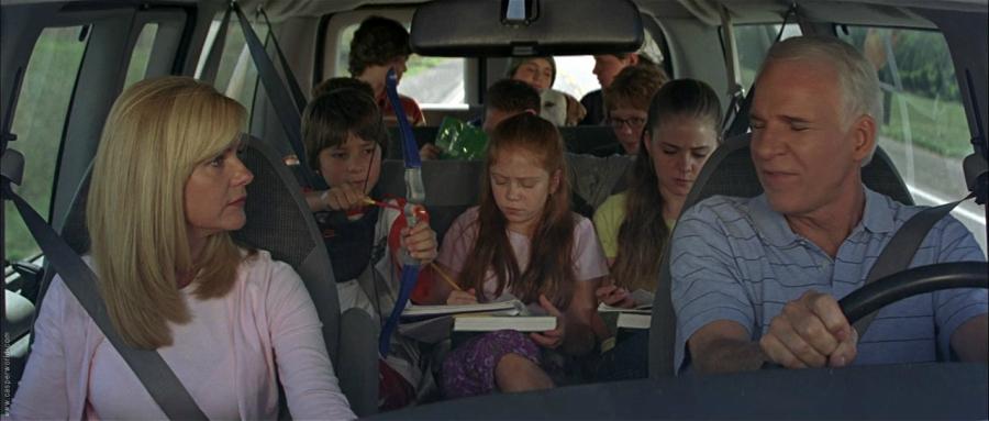Cheaper by the Dozen car full of kids