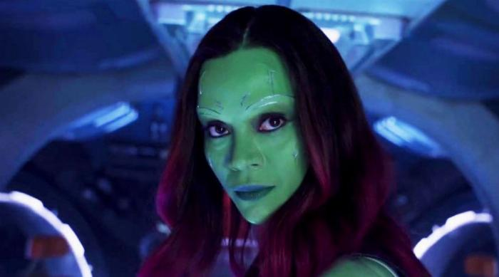 Gamora turning her head: Guardians of the Galaxy