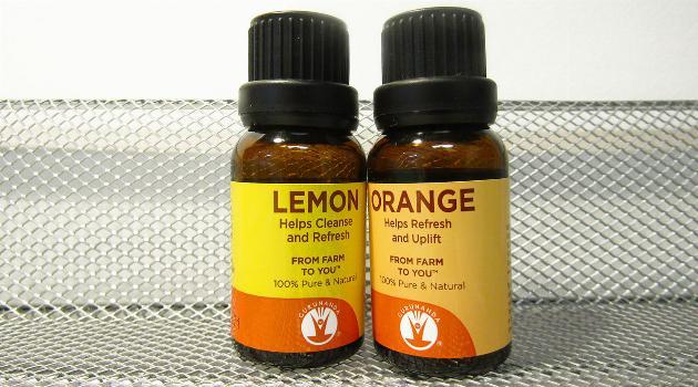 GuruNanda Essential oils in lemon and orange