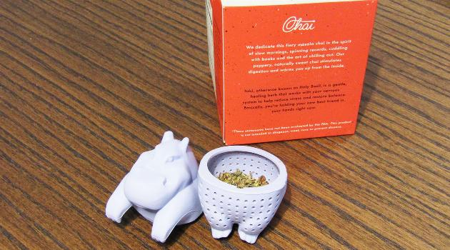 Hippo Diffuser with tea inside