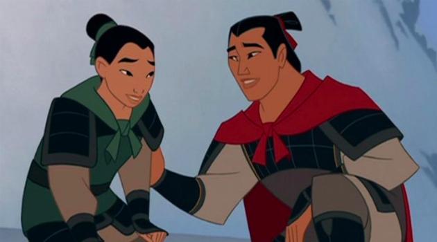 Mulan and Li Shang in Armor
