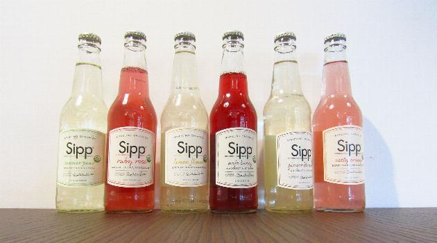 Sipp sparkling organic sodas: drink lineup