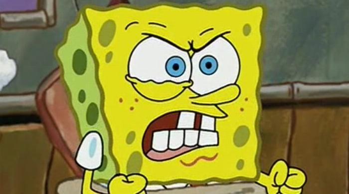 Super mad SpongeBob SquarePants