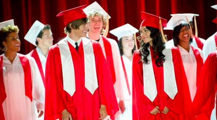 Troy and Gabriella at Graduation in High School Musical 3