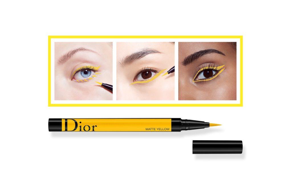 Dior yellow eyeliner
