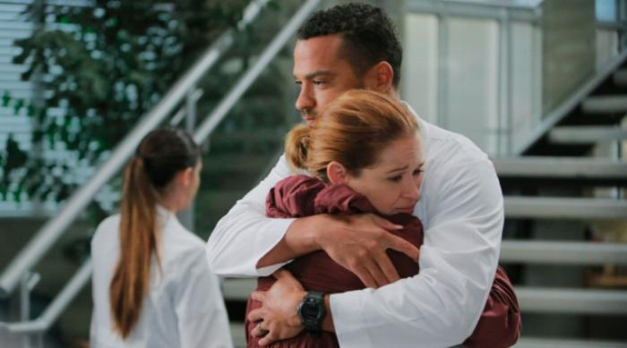 April and Jackson Hugging