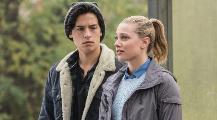 Betty and Jughead looking sad on an episode of Riverdale