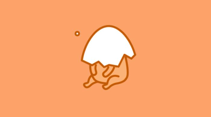 Gudetama broken egg shell on face load screen