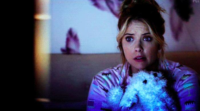 Hannah Watching TV Pretty Little Liars