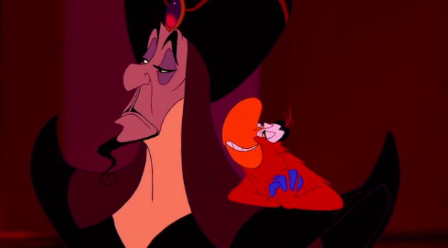 Iago and Jafar from Aladdin