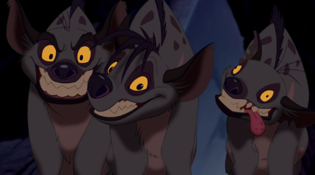 Shenzi, Banzai, and Ed from The Lion King