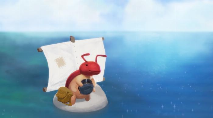 Yoku's Island Express: Yoku sails to the island