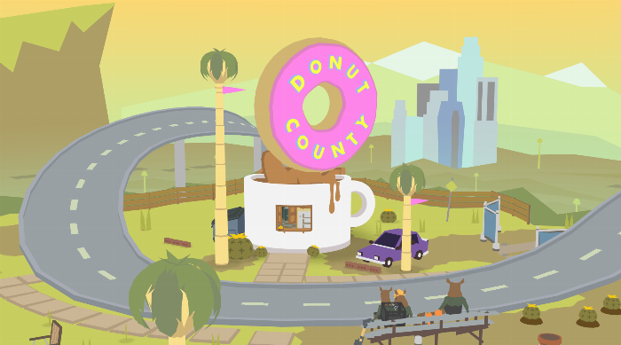 Donut County Title Screen