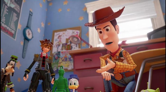 Kingdom Hearts III: Sora meets the Toy Story characters