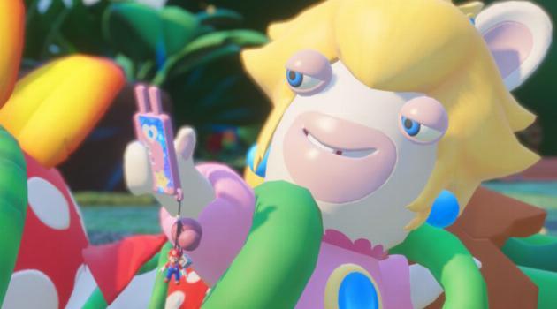 Mario + Rabbids Kingdom Battle: Peach Rabbid takes a selfie