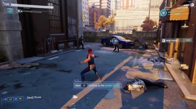 Marvel's Spider-Man for Playstation 4: gadget select