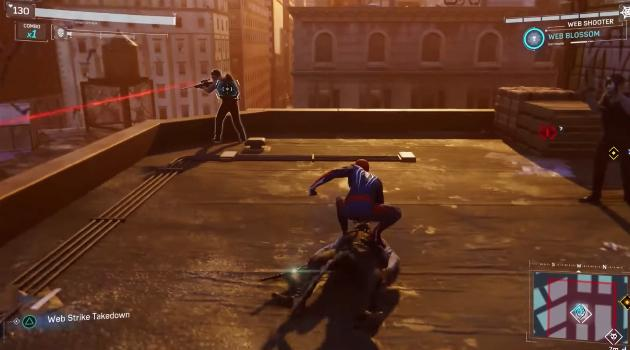 Marvel's Spider-Man for Playstation 4: taking down baddies with guns
