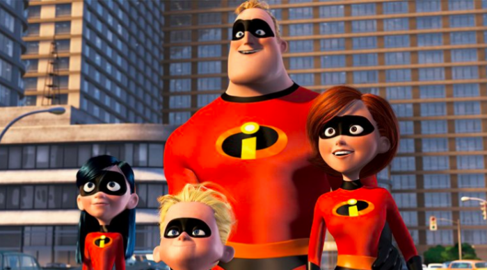 The Incredibles Family - Bob, Helen, Violet and Dash