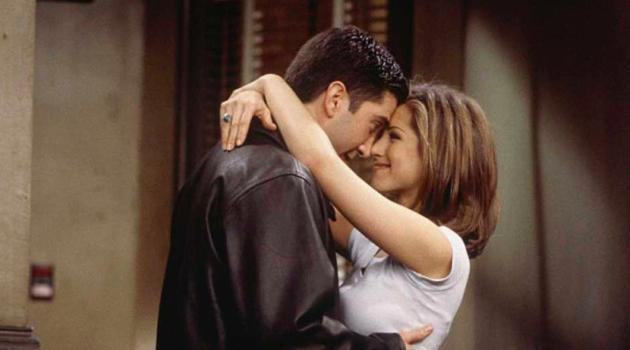 Ross and Rachel From Friends cuddling