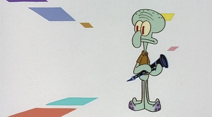 SpongeBob SquarePants: Squidward alone with his clarinet