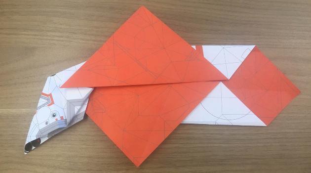 Star Wars Origami: BB8 folded paper