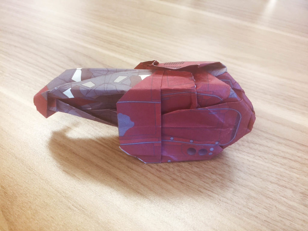 Star Wars Origami: Attempt at Rey's speeder