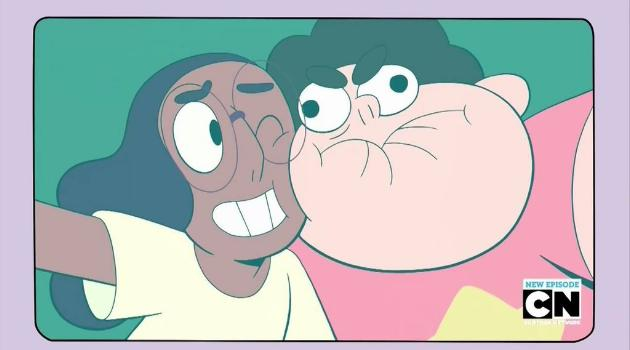 Steven Universe: Connie and Steven take a silly selfie