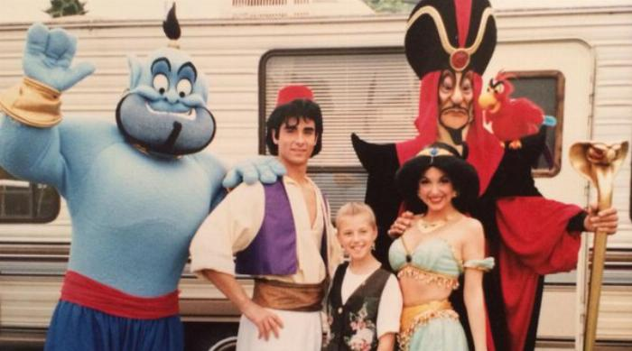 Kevin Richardson as Aladdin in Disneyland