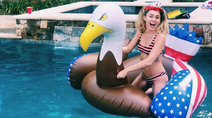 Miley Cyrus Pool Float