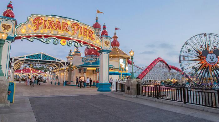 Pixar Pier Entry