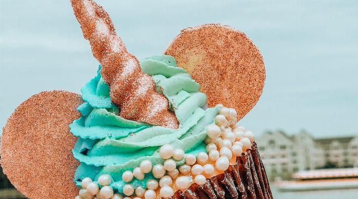 BoardWalk Bakery's Unicorn Cupcake at Disney World