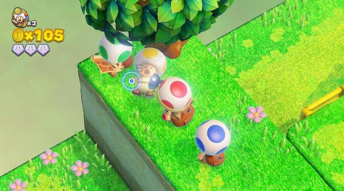 Captain Toad: Treasure Tracker - Sleeping Toad with friends