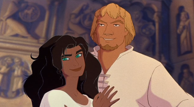 Esmeralda and Phoebus at the end of The Hunchback of Notre Dame