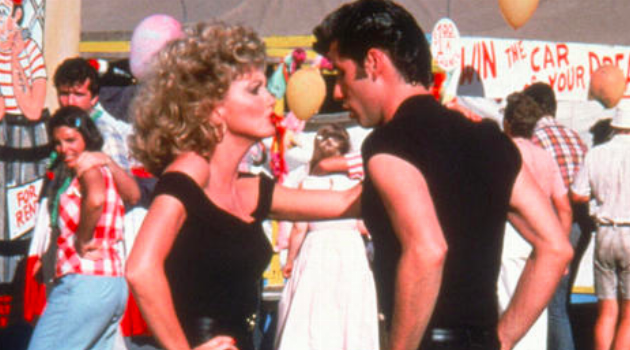 Grease: Sandy and Danny dancing during the last scene