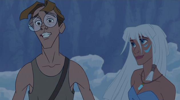 Milo and Kida in Atlantis: The Lost Empire