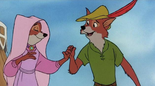 Lady Marian and Robin Hood dancing