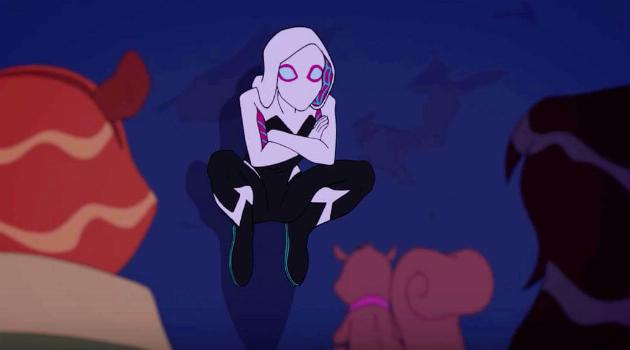 Marvel Rising: Gwen Stacy as Spider-Gwen chats with Squirrel Girl and Ms. Marvel
