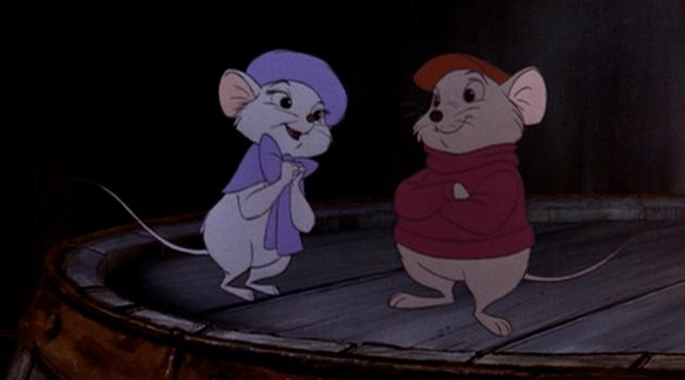 Miss Bianca and Bernard in The Rescuers