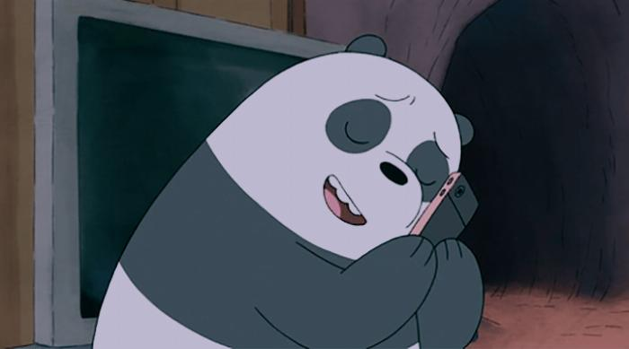 We Bare Bears: Panda obsessed with cell phone
