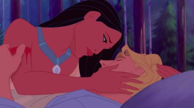Pocahontas: John Smith and Pocahontas saying goodbye