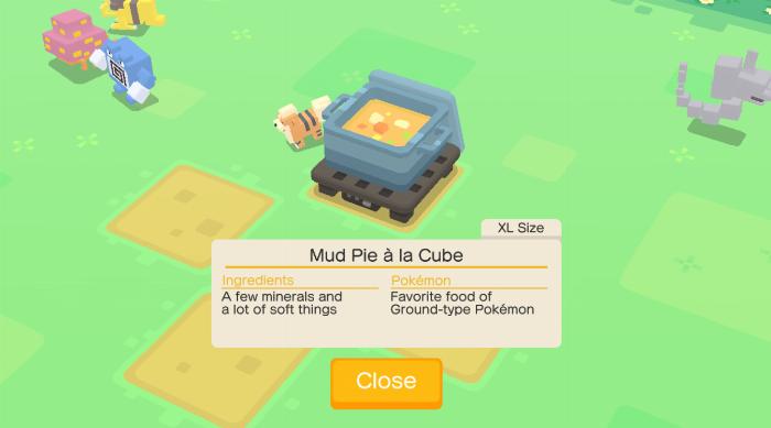 Pokémon Quest: Cooking hot pot a la cube